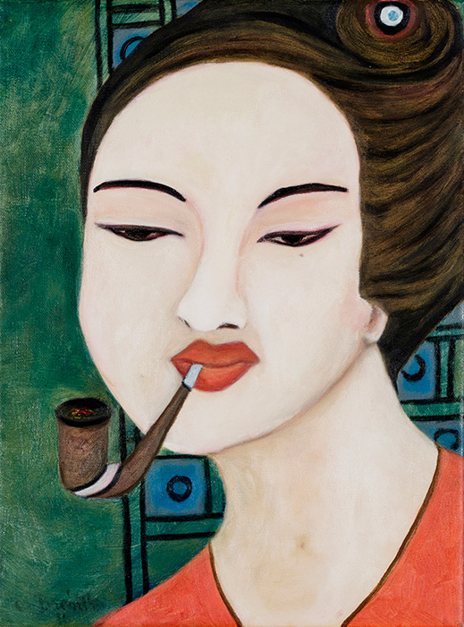 Modern Geisha III 12 x 16 inches 2009 Oil on canvas